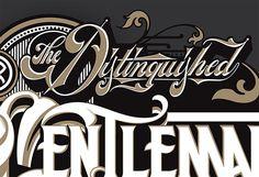 Distinguished Gentlemans script DGR via likemindedstudio.com #vintage #vintagetypography #lettering #dgr #gentleman #gentlemans #custombike #dgr #prostatecancer #charity #distinguished #style #sartorial #vintage #vintagemotorcycle