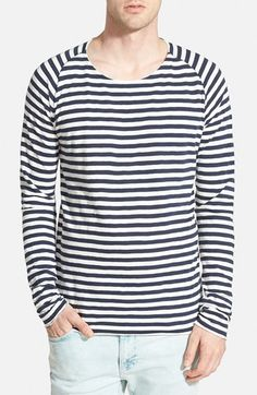Nudie+Jeans+'Otto'+Stripe+Raglan+Long+Sleeve+T-Shirt+available+at+#Nordstrom