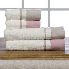 Towels for her and for him. Stripes.