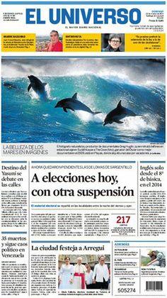Portada de #DiarioELUNIVERSO del 23 de marzo del 2014. Las #noticias de #Ecuador y el mundo en: www.eluniverso.com