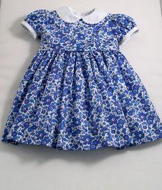 Liberty Indigo Blue Betsy Dress