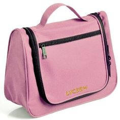 """Lyceem Hanging Hook Travel Toiletry Organizer/Cosmetics Bag-Light Pink by Lyceem. $14.99. Cosmetics bag / storage bag/travel organizer.. Multiple pockets for easy organization.. Nice design.. Size: 12""""W x 9""""H x 4.3""""G.. You can keep all your essentials in one easy-to-use, easy-to-pack bag. When opened, a hanging hook reveals itself, making this bag perfect for throwing up on the towel rack or shower bard for easy access to everything you need when you're on-the-go. Thi..."""