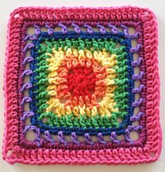 FRAN Mystery CAL Part 2 - Ann - free crochet square pattern by Shelley Husband at Spincushions.