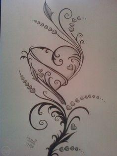 pencil-drawings-of-love-hearts-drawings-of-roses-and-hearts-hearts-and-roses-crystal-raiyn.jpg (1200×1600)