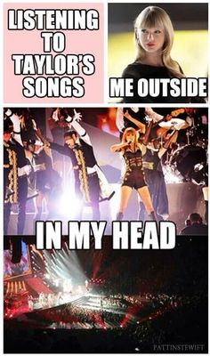 This is so true! Now whenever I hears song from the red tour, that's the only way I can picture it