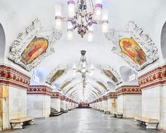 Moscow Subway Canadian photographer David Burdeny two weeks 200 feet underground, shooting the surreal opulence of the Moscow Metro. With their ornate chandeliers, marble walls, bronze columns, and...