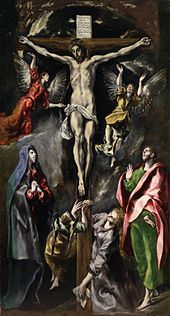 El Greco - The Crucifixion (Prado, Madrid / Spanish Painters, Spanish Artists, Catholic Art, Religious Art, Klimt, Renaissance Espagnole, Renaissance Kunst, Bild Tattoos, Great Paintings