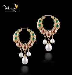 Jewel - Green Sapphire Earring, Designed by - Mira Gulati, Graduate Jeweler Gemologist(GIA), Crafted by - Mirari.com