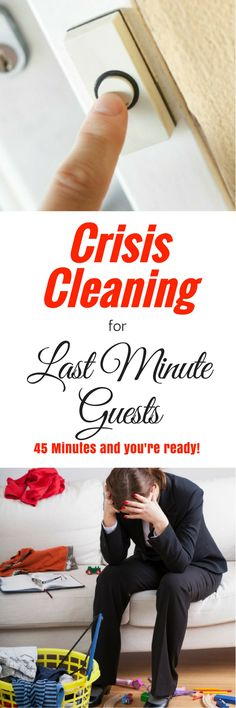 Crisis Cleaning for Last Minute Guests - A speed cleaning routine when…