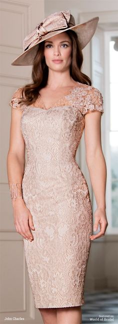 John Charles 2016 mother bride metallic print jacquard dress More