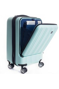 The CALPAK Wandr Carry-On features a separate front padded compartment for organization and accessibility, a TSA approved double-lock for extra security, 8 multi-directional spinner wheels that offer