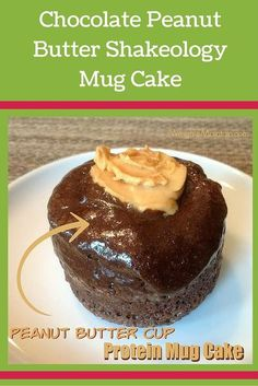 Chocolate Peanut Butter Shakeology Mug Cake recipe. Enjoy this protein mug cake as a delicious, nutritious breakfast, snack or dessert in under 2 minutes! See the recipe (and other Shakeology recipes) at WeighToMaintain.com.