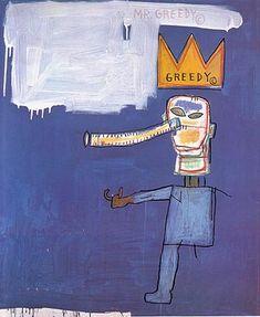 Jean- Michel Basquiat - Urban Art - Underground Style - Neo Expressionism - Mr Greedy 1986