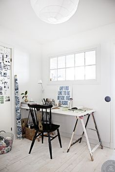 Workspace with small window
