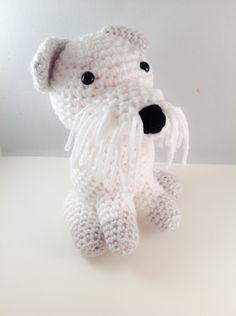 Crochet Amigurumi Schnauzer Puppy Handmade Stuffed Animal Plush Toy by ToniDStudio on Etsy https://www.etsy.com/listing/476411617/crochet-amigurumi-schnauzer-puppy