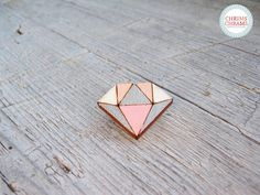 Wooden Brooches – Brooch * diamond * Wood – a unique product by ChrimsChrams on DaWanda