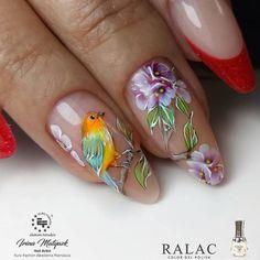 Here are the 10 most popular nail polish colors at OPI - My Nails Nail Designs Spring, Cool Nail Designs, Acrylic Nail Designs, Cute Nail Art, Nail Art Diy, Uñas One Stroke, Animal Nail Art, Bird Nail Art, Uñas Fashion
