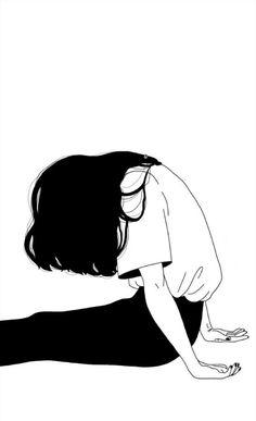 Trendy art drawings creative black and white Manga Girl, Anime Art Girl, Manga Anime, Manga Eyes, Aesthetic Anime, Aesthetic Art, Aesthetic Drawings, Simple Aesthetic, Art And Illustration