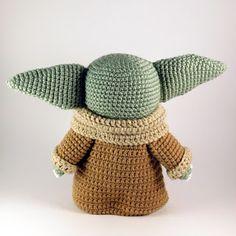 Baby yoda inspired amigurumi pattern crochet updates from knittedtoyworld on etsy Animal Knitting Patterns, Crochet Amigurumi Free Patterns, Stuffed Animal Patterns, Easy Crochet Patterns, Crochet Designs, Crochet Toys, Crochet Baby, Free Crochet, Star Wars Crochet
