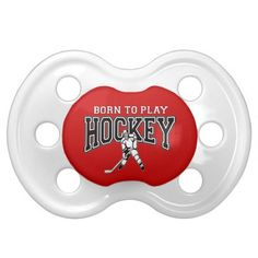 Red Hockey Baby Pacifier
