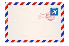 Envelope. International air mail with red and blue frame royalty-free envelope international air mail with red and blue frame stock vector art & more images of air mail