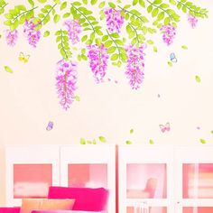 Wistaria Blossoms Wall Decal