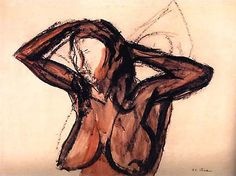 José Clemente Orozco / Nude Female / No Date / Ink and Clemente Orozco, Mexican Artists, Figure Drawing, All Art, Ink, Drawings, Art Ideas, Mexico, Nude