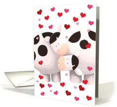 Happy Valentine's Day Cows card