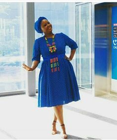 Beautiful women's shweshwe dresses for Summer Concerts, African women always strive to be at the highest levels of style, African Dresses For Women, African Attire, African Wear, African Fashion Dresses, African Outfits, African Clothes, African Women, African Print Fashion, Africa Fashion