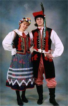 Народный костюм Polish Folk Art, How To Cook Shrimp, Drawing Clothes, Folk Costume, Krakow, Ancient Art, Traditional Dresses, The Past, How To Wear