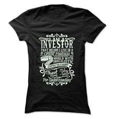 Job Title Investor T Shirts, Hoodies, Sweatshirts. CHECK PRICE ==► https://www.sunfrog.com/LifeStyle/Job-Title-Investor-99-Cool-Job-Shirt-.html?41382