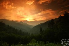 A Smoky Mountain Sunset | by Deb Campbell | from Morton's Overlook, Newfound Gap Rd, Great Smoky Mountains