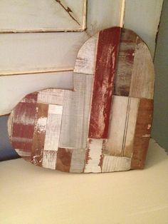 Large Rustic Valentine's Wood Heart 16x14 by MyAlteredState
