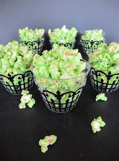 Green Slime Popcorn | Edible Crafts | CraftGossip.com