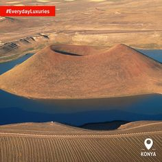 Admire volcanic water and climb right into the pit of an extinct volcano. Just an everyday activity in Karapınar at Meke Lake! #EverydayLuxuries #HomeOf #Konya #TurkeyFromTheAir Photo by: Alp Alper