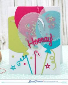 Confetti Balloons Card by Betsy Veldman for Papertrey Ink (June 2015)