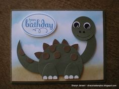 Today I wanted to share with you a card I made that I think would be perfect for a boy. Now you can give this to a girl too but since I alw...