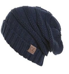 ede57e5a4b4d3 Thick Slouchy Knit Beanie. Perfect for keeping your head warm. Collect all  the colors