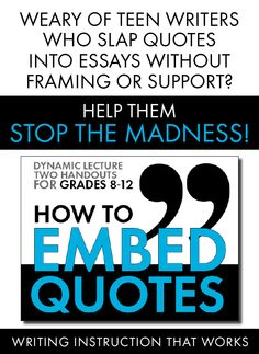 using quotes in essays mla