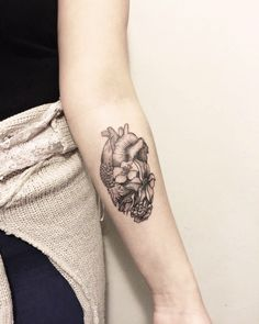 #tattoo #heart #flowers