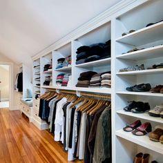Slanted Ceiling Closet Design Ideas, Pictures, Remodel, and Decor