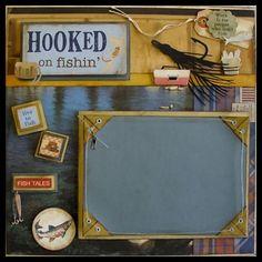 Fishing Framed Scrapbook Presentation