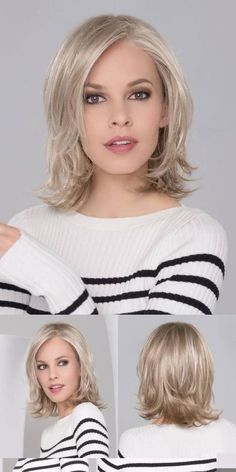 Do you like your wavy hair and do not change it for anything? But it's not always easy to put your curls in value … Need some hairstyle ideas to magnify your wavy hair? Brown Blonde Hair, Wavy Hair, Fine Hair, Beige Blonde, Medium Hair Cuts, Short Hair Cuts, Pixie Cuts, Medium Hair Styles For Women, Trendy Haircuts