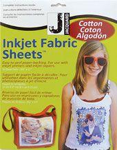 Jacquard Inkjet Cotton Sheets -- order from Blick Art Materials