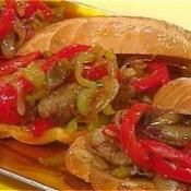 ITALIAN SAUSAGE ONIONS PEPPER HOAGIE: This is an Italian staple # ...