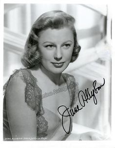 American stage, film and TV actress (1917-2006), active for 7 decades from 1938 through 2001. Signed photo, 8 x 10 inches, excellent condition