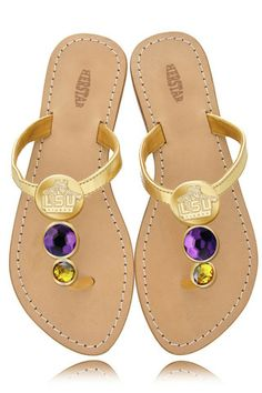Tons of items.  Love the shoes...sure hope they get more of these in!  LSU Tigers Ladies Jewel Embellished Flat Sandals