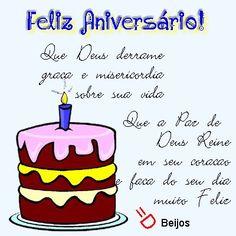 Feliz Aniversário! - Que Deus derrame graça e misericordia sobre sua vida #felicidades #feliz_aniversario #parabens