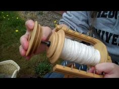 Spinning wool on a wheel...