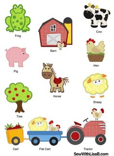On The Farm Machine APPLIQUE Embroidery Designs by SewWithLisaB, $14.99